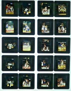 JTM5-24 90s NBA Chicago Bulls Michael Jordan Pippen Ewing (80) ORIG 35mm Slides