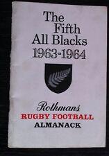 Il QUINTO All Blacks 1963-1964 Rugby Football ALMANACCO ROTHMANS