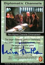 BABYLON 5 CCG Mira Furlan THE GREAT WAR Diplomatic Channels AUTOGRAPHED