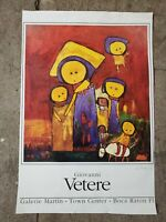 Vintage Poster Giovanni Vetere Artist, Hand Signed  Galerie Martin 30 x 20 inch