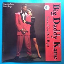 """Big Daddy Kane-Cause I Can Do It Right-'90 Cold Chillin' 12"""" Maxi-PROMO-UNPLAYED"""