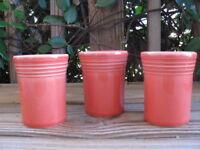 "Fiestaware~Persimmon~3¾"" Juice Cups~60th Anniversary~Three"