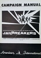The Jailbreakers 1960 press book  Robert Hutton, Mary Castle, Michael O'Connell
