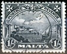 Malta 1930 1s Black SG203 V.F.U