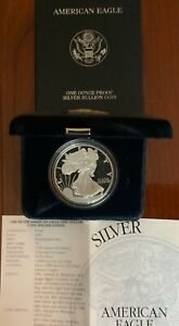 1996 P Silver Eagle Proof with OGP COA Key Date Early Eagle Proof Low Mintage