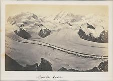 Suisse, Alpes, Glacier, Mont Rose, Monta Rosa  Vintage albumin print Tirag