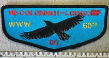 Order of the Arrow COLONNEH LODGE 137 Flap PATCH OA 60TH ANNIVERSARY Texas TX