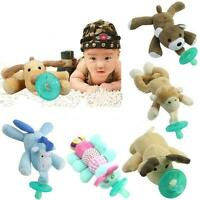 Animal Baby Nipple Infant Wubbanub Silicone Pacifiers with Cuddly Plush 1Pc Q