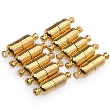 10 sistemas de plata/oro plateado óvalo cierres magnéticos conectores