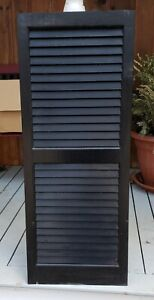 """Black wood shutters exterior 6 panels 3 pairs 39""""x15"""" all 6 for 250.00 or BOffer"""