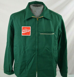 New Men's coke  Coca Cola Uniform jacket  Green Sz XL Extra large Made In USA