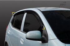 Smoke Tinted Wind Deflector 4pcs for 2007 - 2012 Hyundai i10 5dr