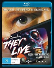 They Live (Blu-ray) John Carpenter HORROR  Alien Invasion [Region B] NEW/SEALED