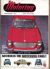 Motoring 11/64  Nuffield Mag 1964 Motor Show Mini Minor AA Power Steering Fiji +