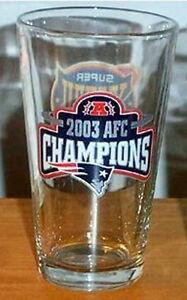 NEW ENGLAND PATRIOTS 2003 AFC SUPER BOWL 38 PINT GLASS
