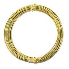 Anodized Aluminum Wire 12 Gauge 39 Feet Light Gold 41968 Round Shiny