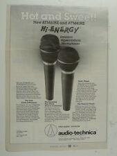 retro magazine advert 1991 AUDIO TECHNICA atm 61 / 41
