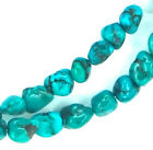 """16"""" Green/Blue Chinese Turquoise Nugget ~60 Beads 6-7mm K4962"""