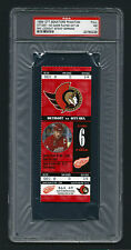 PSA 7 STEVE YZERMAN Unused NHL Ticket for the Red Wings at the Senators RED
