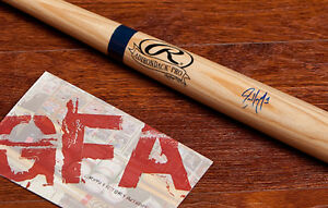 **GFA Colorado Rockies *ERIC YOUNG JR* Signed Rawlings Mini Bat E4 COA PROOF!**