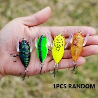 1pc 4cm Cicada Bass Insect Fishing Lures Crank Bait Floating Tackle Accessories