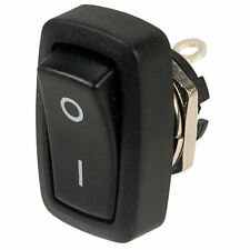 SCI R13-228a Black On-off Rocker Switch 2p SPST Panel Mount Rectangular 10a 250v