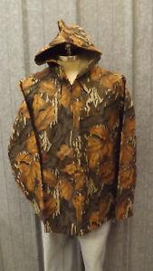 Vtg NEW Mossy Oak Fall Foliage Cotton Chamois Jacket sz Med Whitewater Outdoors