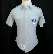 New PROPPER Mens Blue Green Short Sleeve Military Tactical Dress Shirt (Size 15)