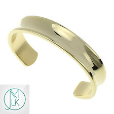 Fashion Men Women Solid Stainless Steel Open End Cuff Bangle Bracelet Gold