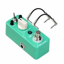 Mooer Green Mile Overdrive Compact Guitar Effects Pedal w/ 2 Patch Cables