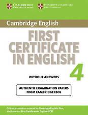 Cambridge inglés _ certificado de primera en inglés 4 ___ totalmente nuevo ___ Freepost UK