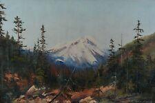 Rose Leonard 1916-2005 20x30 Mountain Landscape Painting Canadian Alberta Listed
