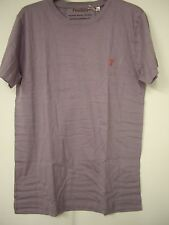 Prestbury Men's 100% organic Cotton T-Shirt in Mountbatten Mauve Size L BNIB