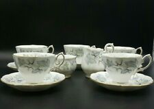More details for royal albert silver maple tea cups and saucers with milk jug& sugar bowl-1st