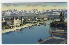 AK Zürich, Hotel Bellevue, Quaibrücke, Bauschänzli, 1912