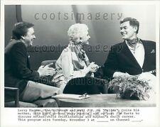 spiegeleier tv-moderatorin mary martin with son larry hagman press photo