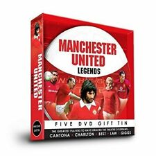 MANCHESTER UNITED LEGENDS 5 DVD GIFT TIN - CANTONA, LAW, BEST, GIGGS & CHARLTON