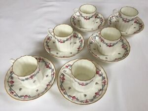 Royal Worcester 'Minuet' Bone China expresso cups/saucers