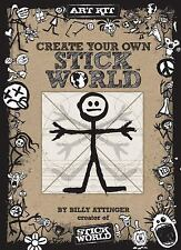 CREATE YOUR OWN STICK WORLD KIT book. BILLY ATTINGER (HARDCOVER craft activity