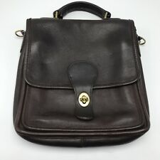 VINTAGE COACH 5130 WILLIS STATION BROWN LEATHER CROSSBODY BAG SMALL MESSENGER