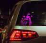 Einhorn Unicorn Aufkleber Auto Sticker Tuning JDM Schocker Auto Bike Pink finger