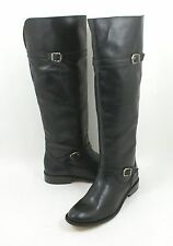 Frye 'Shirley' Riding Boot Black Leather Size 6