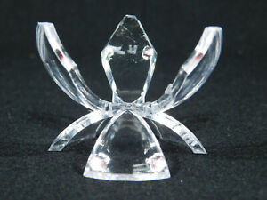 A Small Lucite TULIP Three Prong! Display Stand for Spheres Golf Balls and More!