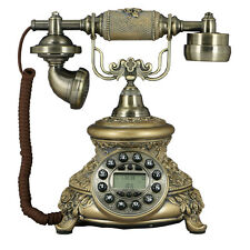 2018 Gifts Antique Button Flower Corded Phone Retro Vintage Home Desk Telephones