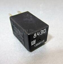 527-vauxhall Opel Chevrolet / 05-16 4-pin NERO MINI RELAY GM 13500113 8430