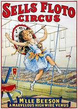 High Wire Circus - Old Vintage Antique, Magic - Circus, HD Print or Canvas