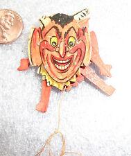 scarce antique Halloween dancing devil lapel pin
