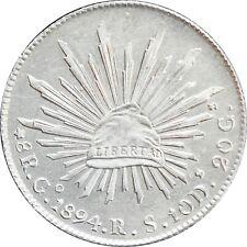 Mexico 8 Reales Go 1894 R.S. Guanajuato. KM# 377.8