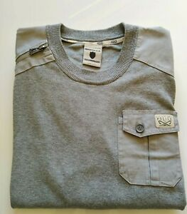 Men's Police 883 Jumper Sweater Dales U Style Size 4 Or Large Marl Grey