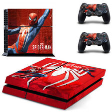 Spider-Man Theme Vinyl Skin Stickers for PS4 Console & 2 Controllers